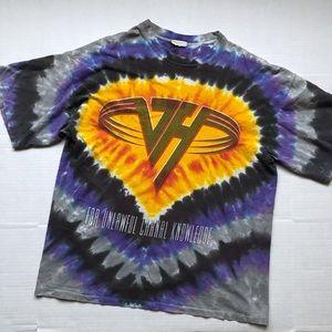 Vintage 1991 Van Halen Tie Dye T-shirt